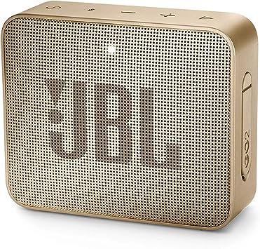 Oferta amazon: JBL GO 2 - Altavoz inalámbrico portátil con Bluetooth, resistente al agua (IPX7), hasta 5 h de reproducción con sonido de alta fidelidad, champagne