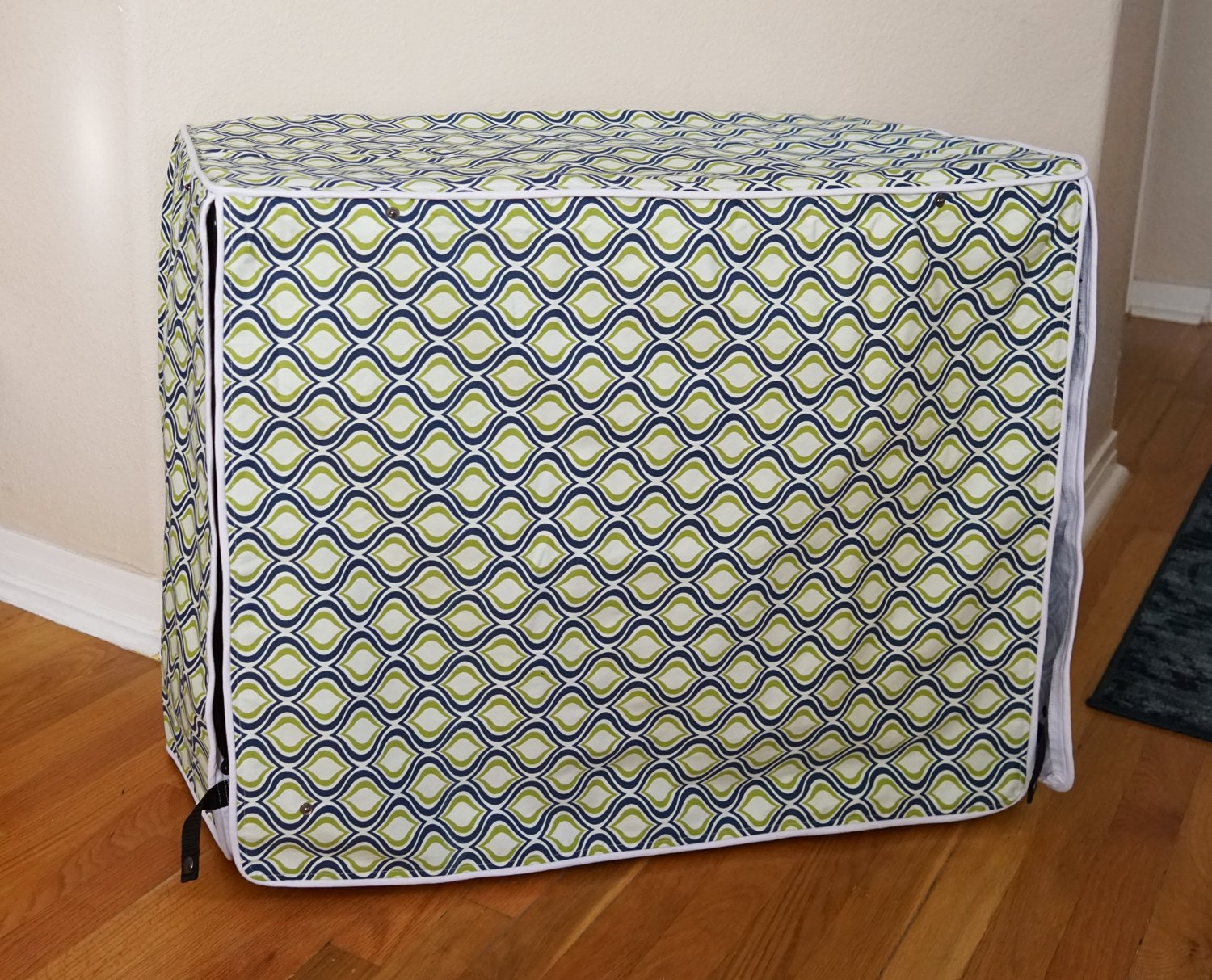 Green Blue Swivel Dog Pet Wire Kennel Crate Cage House Cover (Small, Medium, Large, XL, XXL) (MEDIUM 30x21x24'')