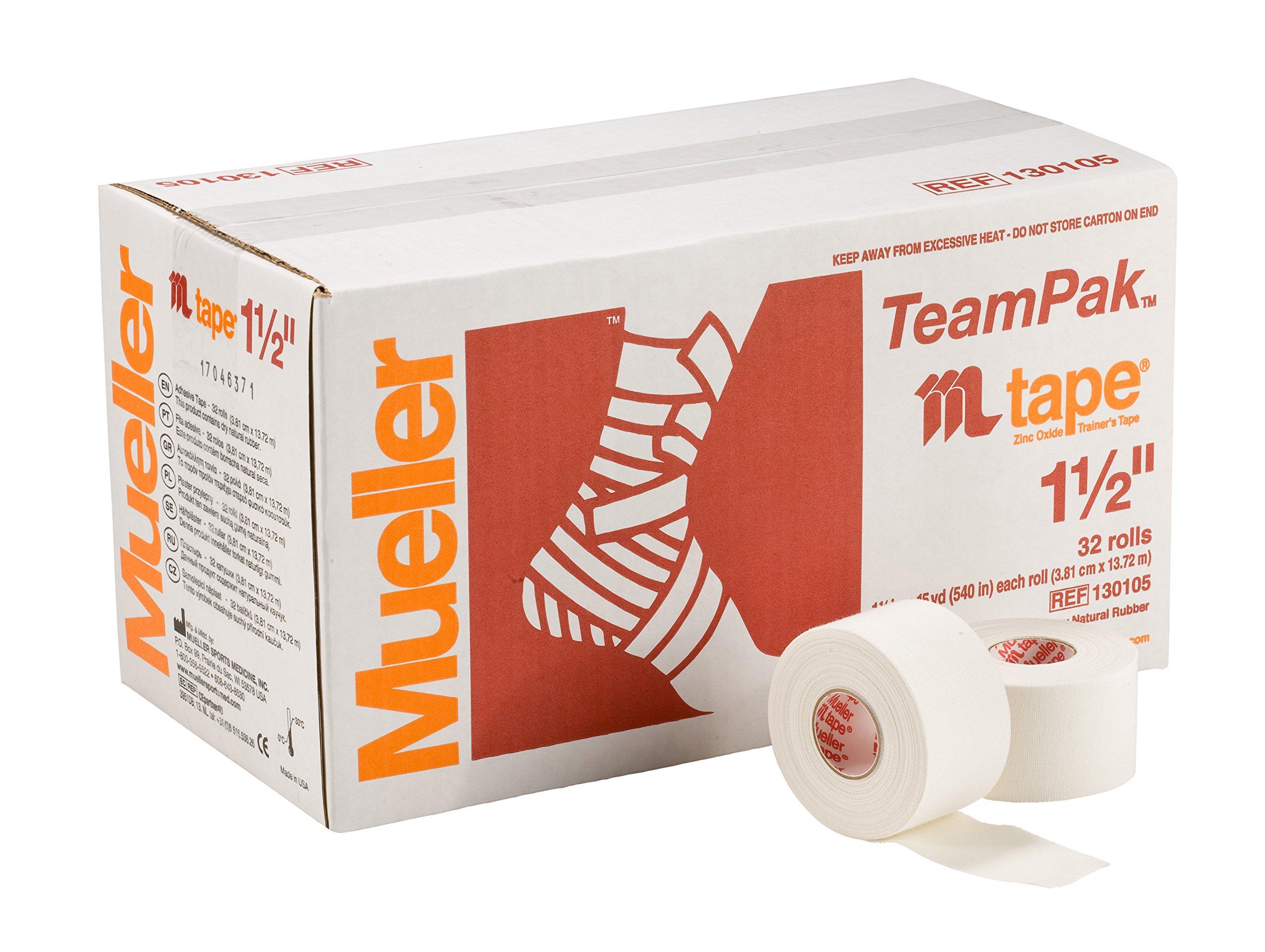 Mueller MTape 1.5'' x 15 yards Case - 32 Rolls - White