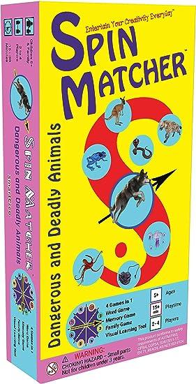 Juego de Mesa Educativo de SmartCreo con diseño de Animales peligrosos y mortíferos, 4 en 1: Amazon.es: Juguetes y juegos