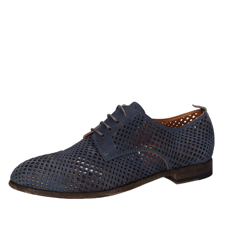 MOMA Zapatos Elegantes Mujer Gamuza (37 EU, Azul)