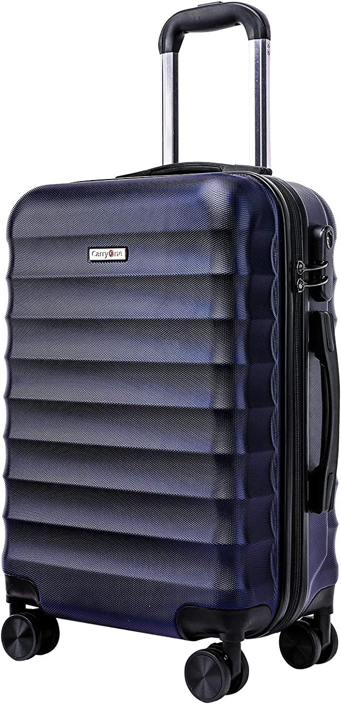 "CarryOne Luggage 20"" ABS Carry on Luggage Hardside Spinner Lightweight Suitcase for Travel and Business Trips,TD2(Blue)"