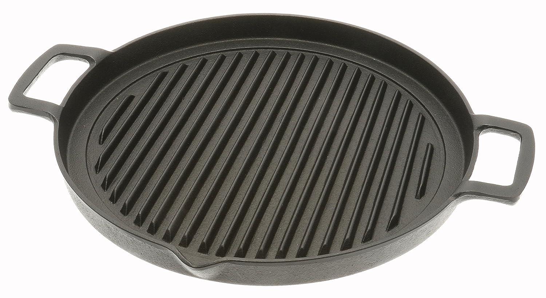 Iwachu Cast Iron Grill and Kalbi Pan, Black 410-691