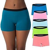 EVARI Women's Boyshort Panties Comfortable Cotton Underwear Pack of 5/2
