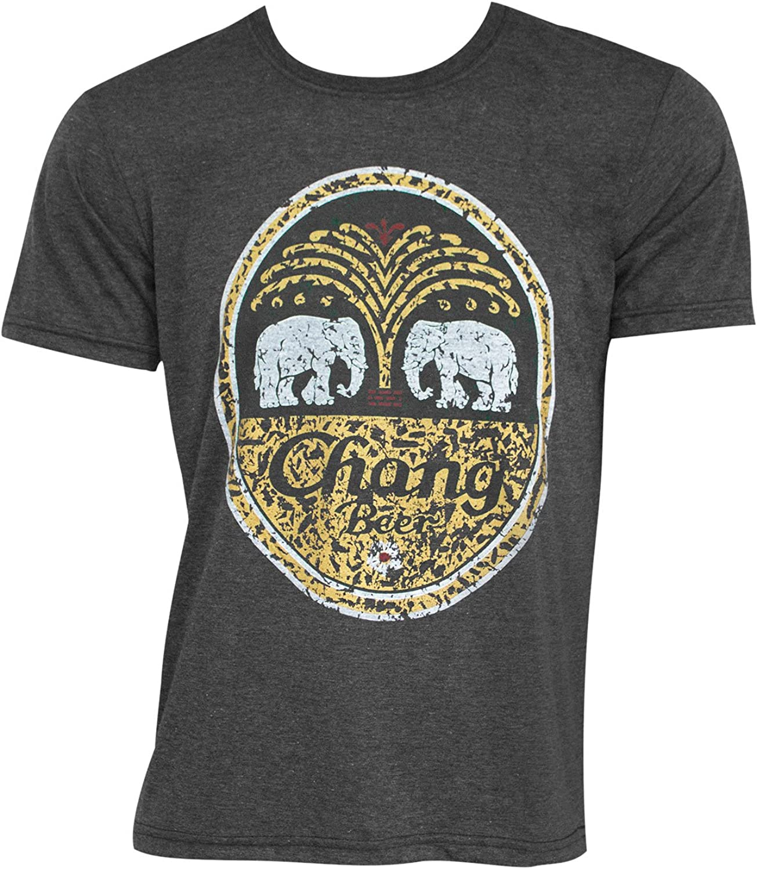 CHANG Camiseta del logotipo de la cerveza de la vendimia Camisa X-Large