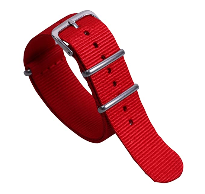 nylon balístico reloj tejido de reemplazo de correa de banda de 12 mm de  alta gama de lujo de estilo rojo suave de la NATO para las mujeres   Amazon.es  ... 19b5126cbef4