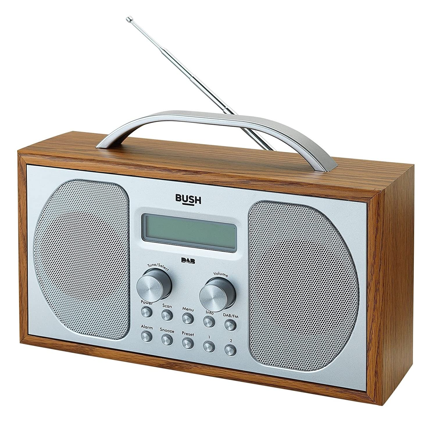 BUSH DAB/ FM STEREO RADIO IN A WOODEN CABINET: Amazon.co.uk: Electronics