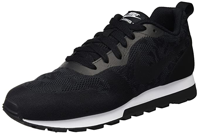 uk availability 5062b 33b04 Nike Women s Md Runner 2 BR Black Black White Running Shoe 8 Women US