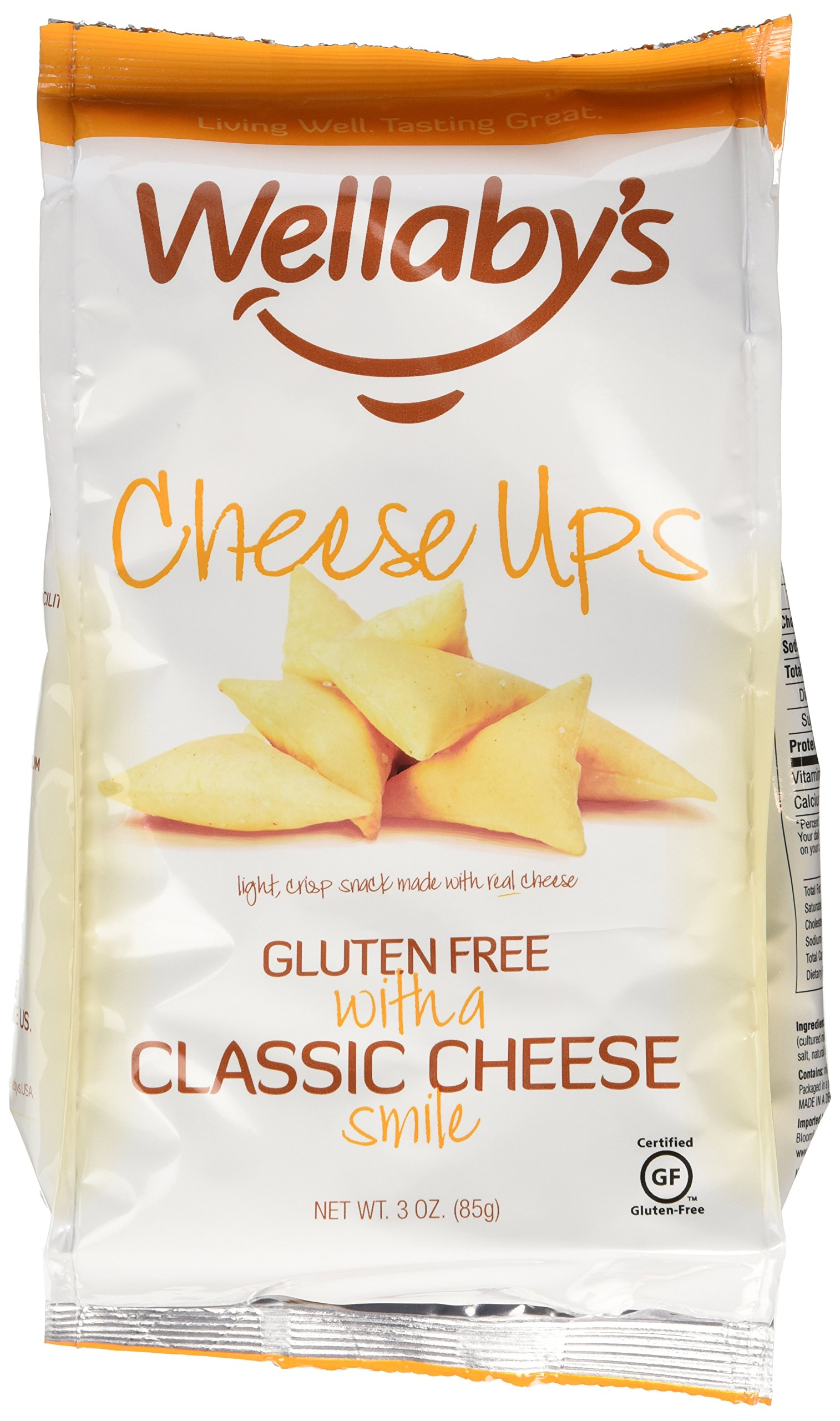 Wellaby's Cheese Ups Classic Cheese, 3-Ounce (Pack of 6)