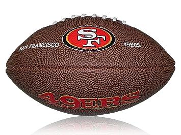 Wilson Football NFL 49ers Logo Mini - Balón de fútbol americano (caucho 481400eaae9