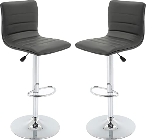 Vogue Furniture Direct Brage Living Nomad Height Adjustable Counter Barstool Set Set of 2