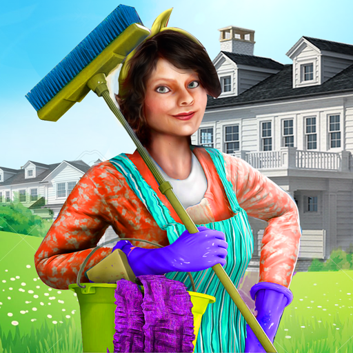 Virtual Maid House keeping Sim : House Cleaning And Decoration Game 3d