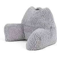icon Teddy Bear Cuddle Cushion, Sherpa Berber Fleece Support Reading Pillow
