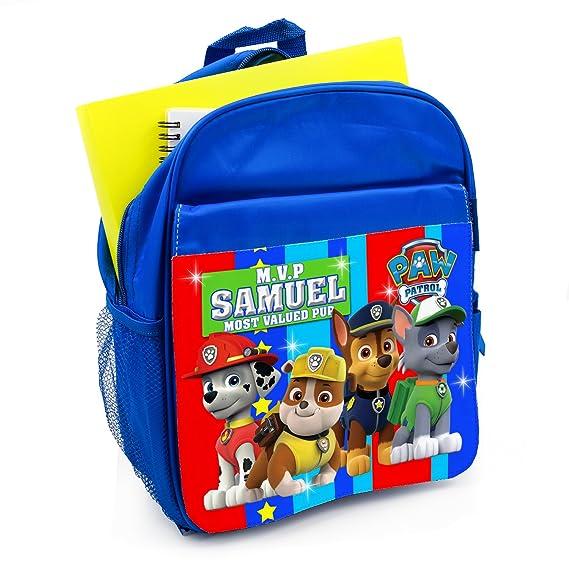 d53c3a7632 Personalised School Bag PAW Patrol KS121 Boys Backpack Book Kids Rucksack -  Blue  Amazon.co.uk  Luggage
