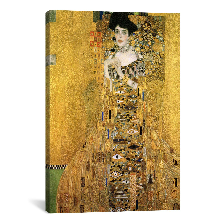 Co color art printing alaska - Amazon Com Icanvasart Portrait Of Adele Bloch Bauer I Canvas Art Print By Gustav Klimt 18 By 12 Inch Posters Prints
