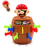 Pirate Funny Barrel Novelty Toy Bucket for Kids and Adults Lucky Stab Toys Game with Breathtaking Curious and Interesting - Great Size for Travel Party Gathering (Cool)