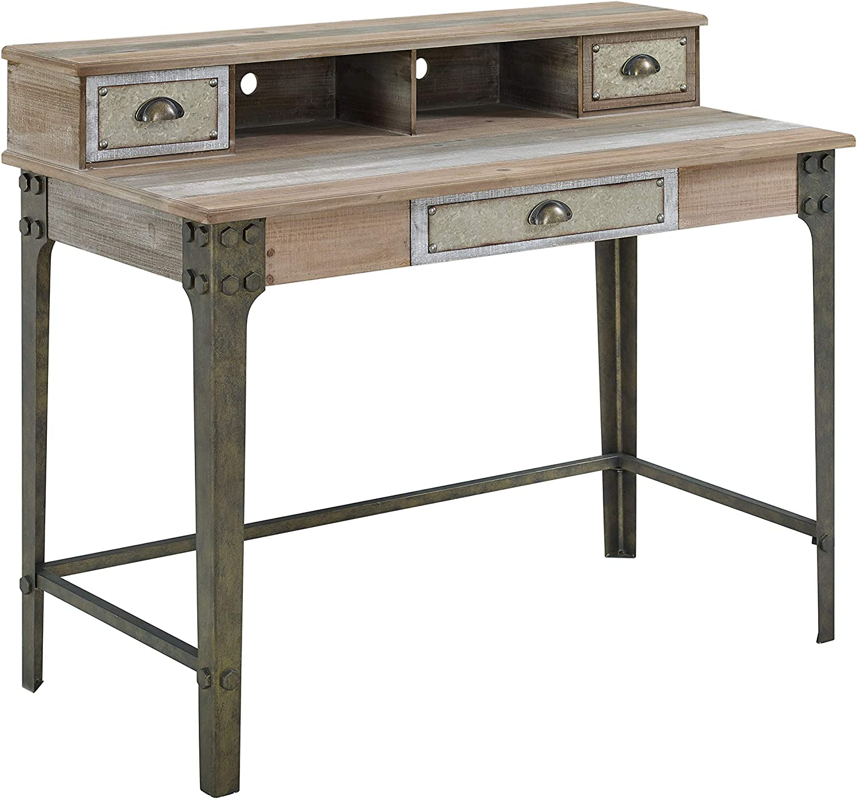 Powell Company Powell Branson Distressed Desk, Grey