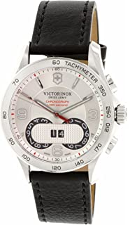 Victorinox Swiss Army Mens Classic 241703 Silver Leather Swiss Quartz Watch