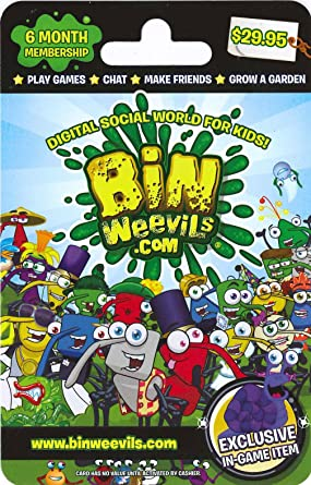 Amazon com: Bin Weevils 6 Month Gift Card: Gift Cards