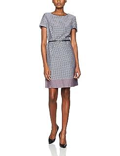 46b0319fdedc ESPRIT Collection Damen Kleid 995EO1E900, Blau (Dark Navy 420), 40 ...