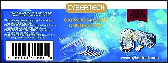 Modular Stecker Network Lan 50x Anschluss RJ-45 RJ45 Ethernet CAT5 CAT5E