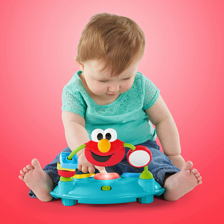 Bright Starts Sesame Street I Spot Elmo Ages 6-12 Months Multi Walker with Easy Fold Frame for Storage