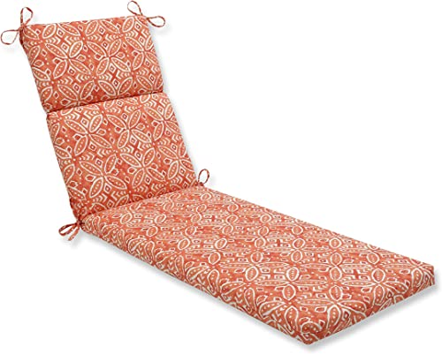Pillow Perfect Outdoor/Indoor Merida Pimento Chaise Lounge Cushion