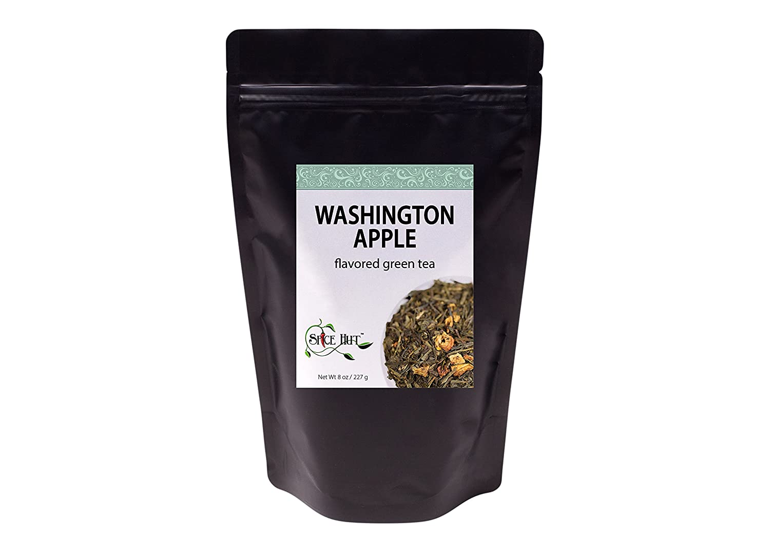 Washington Green Apple Loose Leaf Flavored Green Tea, The First Sip of Tea, 8 ounce bag (80-100 servings) The Spice Hut