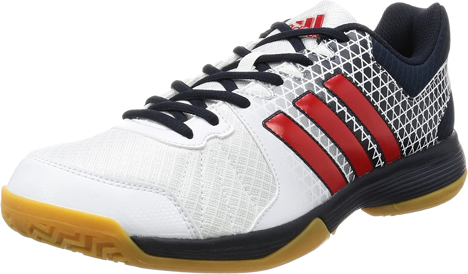 Adidas Men S Volleyball Ligra 4 Shoes Ftwr White Vivid Red S13 Night Navy 4 Eu Amazon Co Uk Sports Outdoors