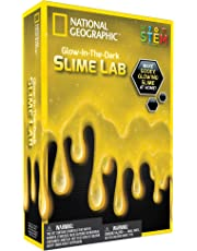 National Geographic Slime DIY Science Lab – Make Glowing Slime (Yellow)