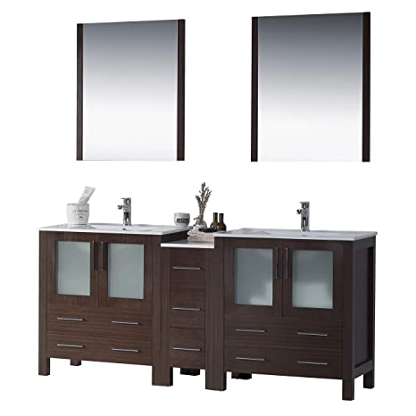 Enjoyable Amazon Com Blossom Sydney 72 Inches Double Sink Bathroom Home Interior And Landscaping Ferensignezvosmurscom