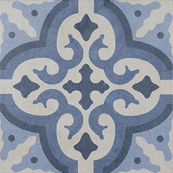 Bodenfliese Vintage Decor Mix Blau Matt Im Format 25x25cm Aus