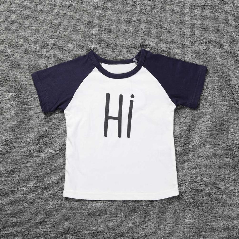 DaySeventh Toddler Kids Girls Cute T Shirt Tops+Sport Shorts Outfit Clothes Set DaySevneth