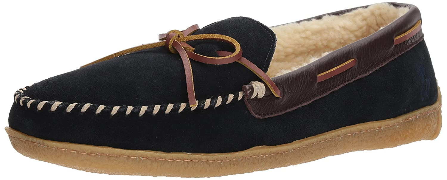 38dbdf331881d Ralph Lauren Polo Men's MoccASIN Slippers with Memory Foam, Mason II with  Premium Genuine Suede, size 8 to 13