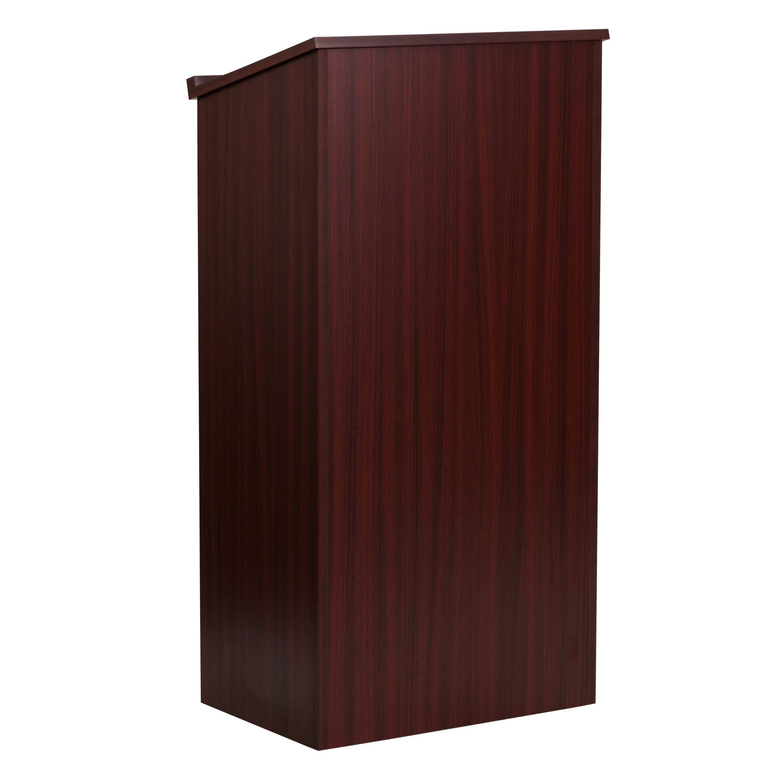 Flash Furniture Stand-Up Wood Lectern in Mahogany by Flash Furniture