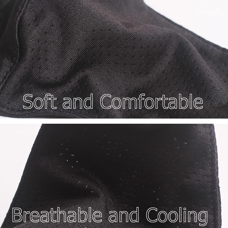 Kids Sports Mesh Masks Breathable Reusable Washable Adjustable Face Mask Outdoor School for Boys Girls Black: Clothing