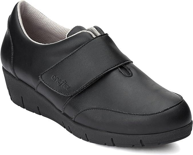 Zapatos anat/ómicos Profesionales c/ómodos para Mujer Oneflex Noah Negro