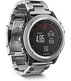 Garmin Fenix 3 HR Smartwatch GPS Multisport con Cinturino in Titanio, Sensore Cardio al Polso, Display a Colori, Altimetro e Bussola, Nero/Grigio