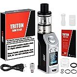 Cigarette Electronique Kit Complet, VAPBUS 50W E Cigarette Top Fill Atomiseur 2ml + Sub Ohm Résistance 0,5 oHm NO e liquide, sans Nicotine ni Tabac (Amélioré)