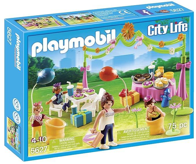 Amazon.com: Playmobil 5627 Fiesta de cumpleaños de los niños ...