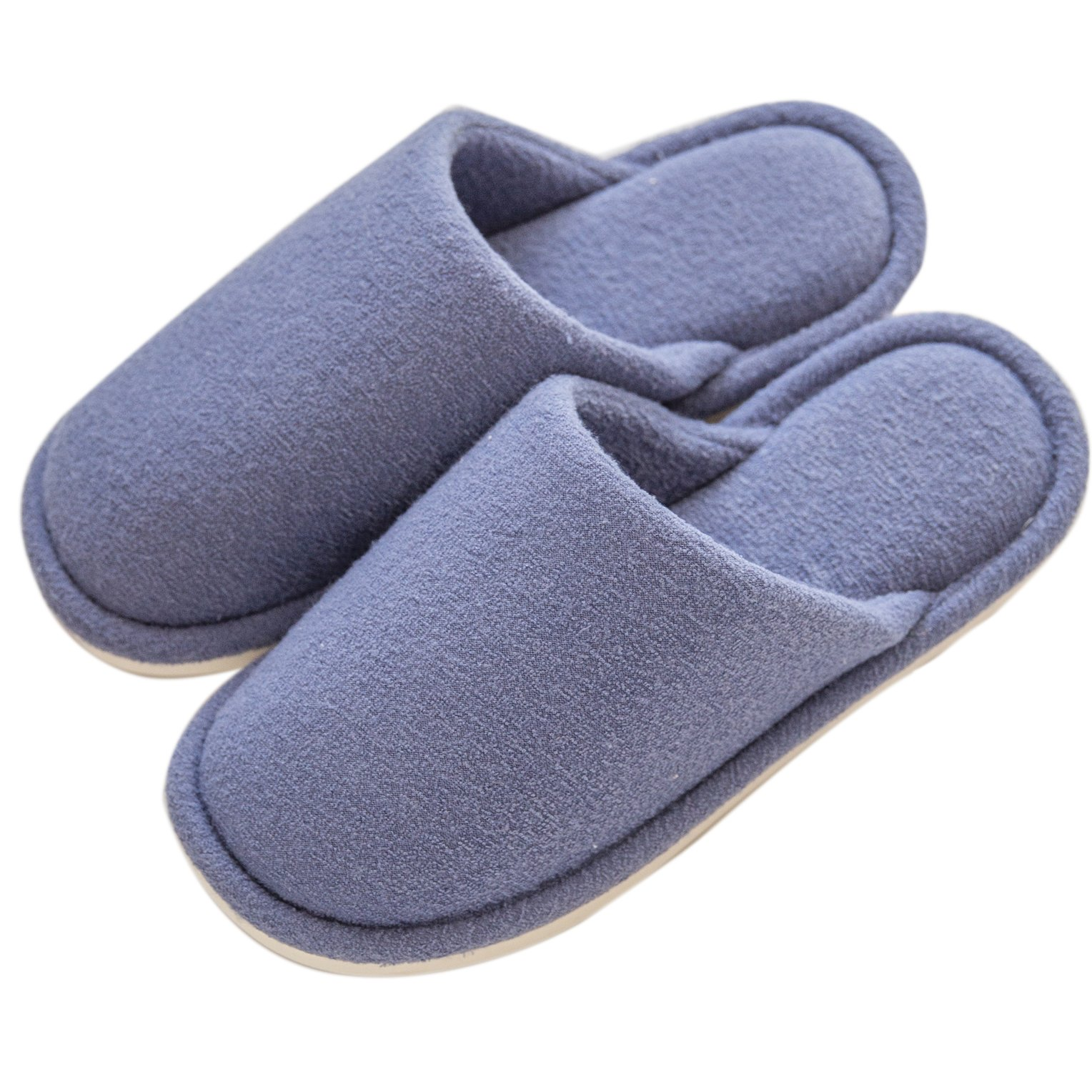 mianshe Comfort Knitted Cotton Slippers Anti-Slip House Shoes Lightweight Indoor Home for Womens Mens