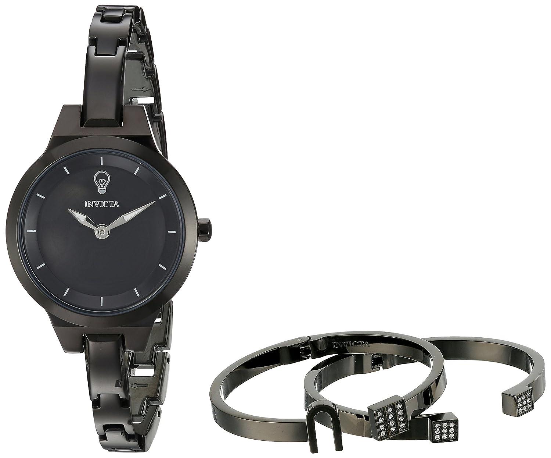 Invicta Women s Gabrielle Union Quartz Watch with Stainless-Steel Strap, Black, 6 Model 23325