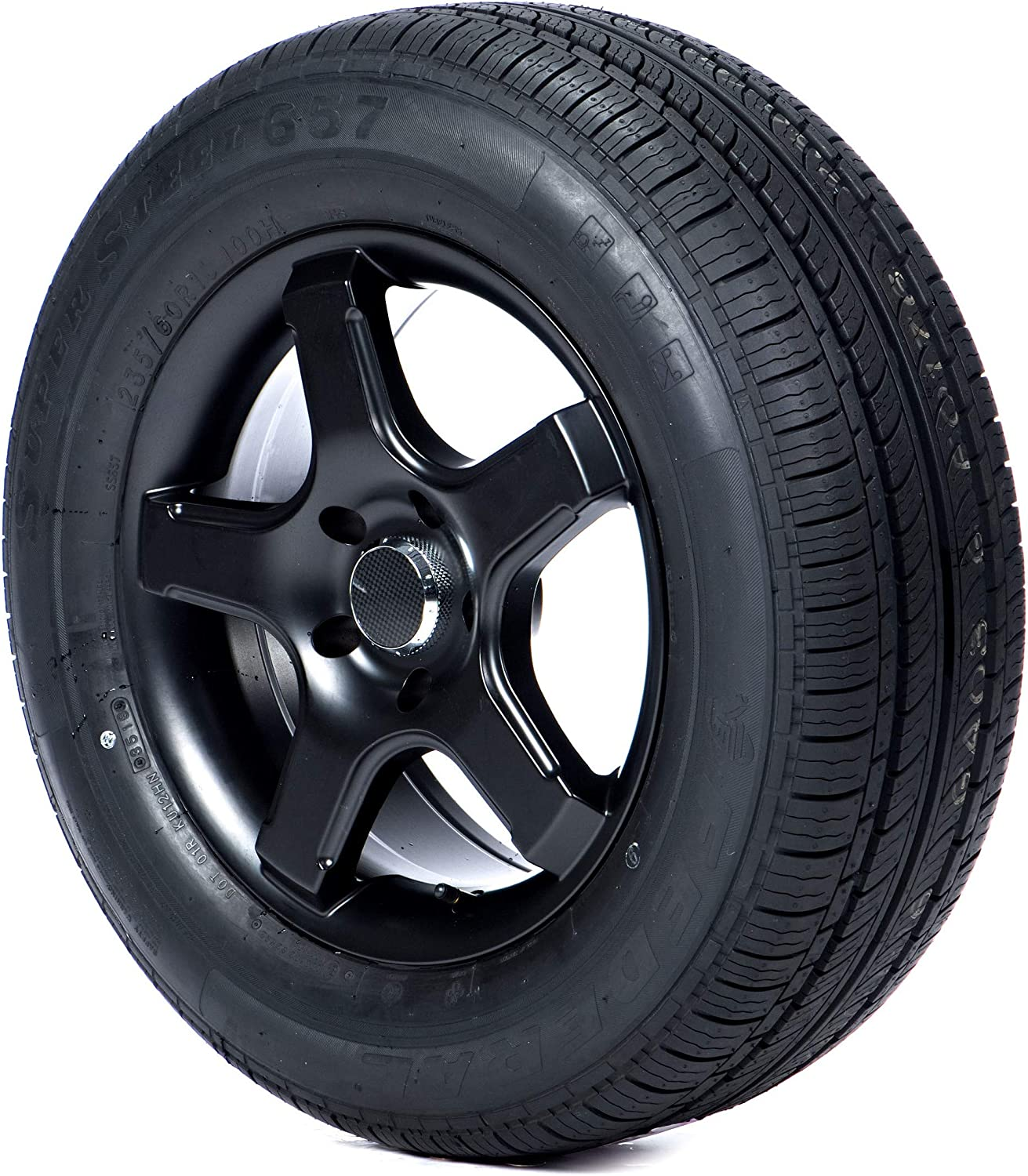 1 New FEDERAL SS-657 P165//80R15 87T All Season Tires