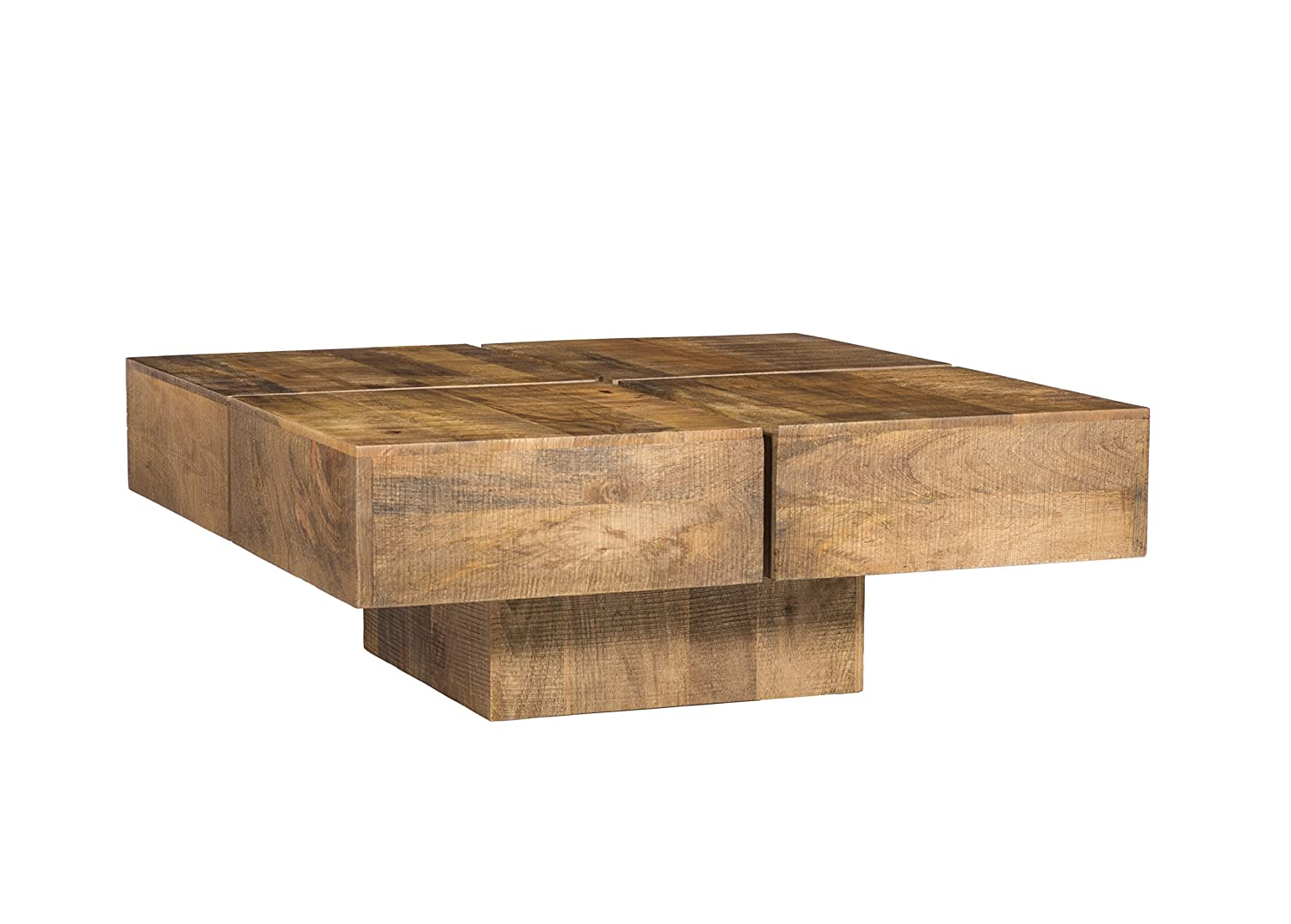 Woodkings Couchtisch Amberley Amberley Amberley 80x80cm Holz Mango Natural Rustic, Echtholz modern, Design, Massivholz exklusiv, Lounge Coffee Table günstig 6f6616