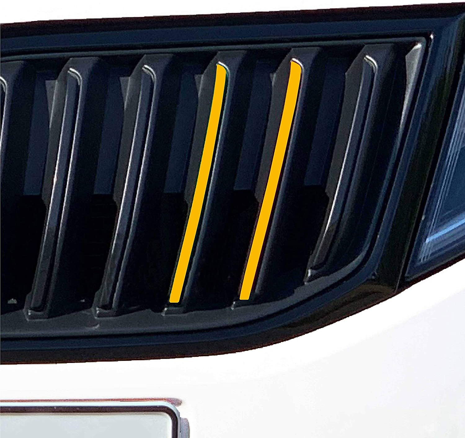 P037 20 Piece Radiator Grill Foil Set Front Stripes Grid Sticker Styling Foil Strips for Grill