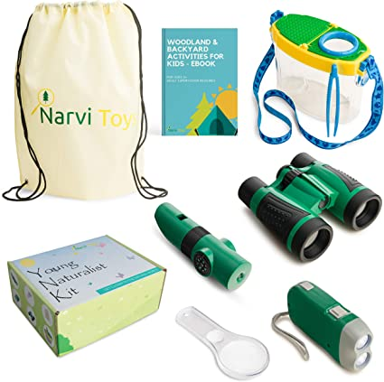 Educational Kit Set for boy /& girl Small Adventures Compass Whistle Magnifying Glass Bug Catch /& Backpack Children/'s Toy Binoculars Hiking Kids Adventure Pack Camping Flashlight 15 in 1 Outdoor Exploration Kit