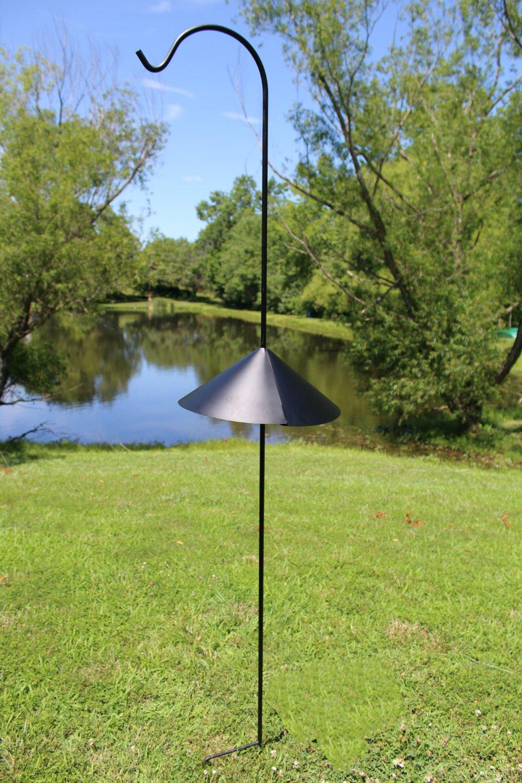 Solar Lights 15MM Thick Flower Pots Bird Feeders Rust Resistant Steel Hook Ideal for Hanging Heavy Plant Baskets Ashman Black Shepherd Hook 92 Inch Super Strong Lanterns