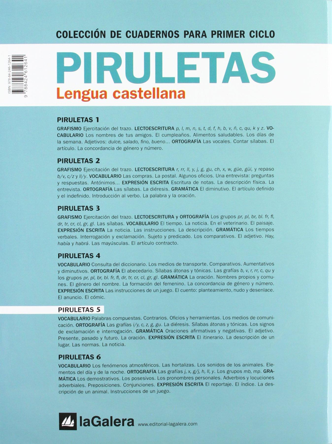 (11).CUAD.LENGUA PIRULETAS 5.(2º.PRIMARIA): 9788424612641: Amazon.com: Books