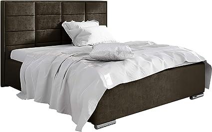 Mirjan24 Capri - Cama tapizada con canapé, Cama Doble con ...