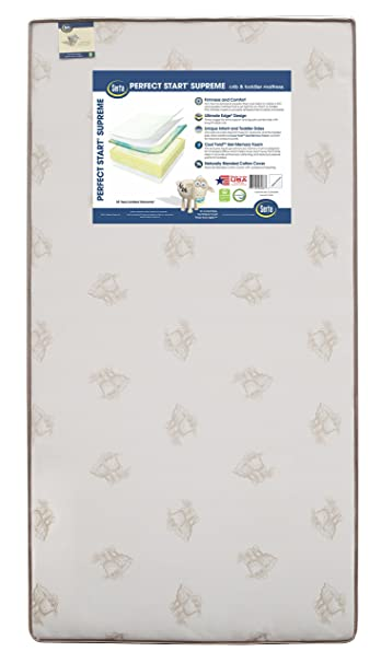 Com Serta Perfect Start Supreme Fiber Core Memory Foam Crib And Toddler Mattress Waterproof Greenguard Gold Certified Natural Non Toxic